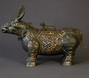 Early Chinese Bronze Mythical Animal Figure.
