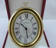 Cartier  table clock ( oval)