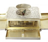 A German Silver Singing Bird Cigarette Box, Early 20th Century