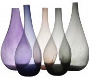 A Set of Five Kosta Boda Coloured Glass Floor Vases By Ann Wahlstrom