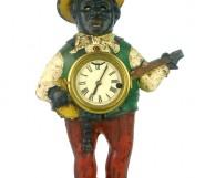 A rare enamelled metal automaton clock, American, circa 1900?