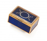 FABERGE, A Lapis Lazuli and Yellow Gold Box, Workmaster Henrik Wigstrom