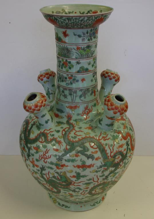 Large Chinese Famille Verte Tulip Vase Barsby Auctions Find Lots
