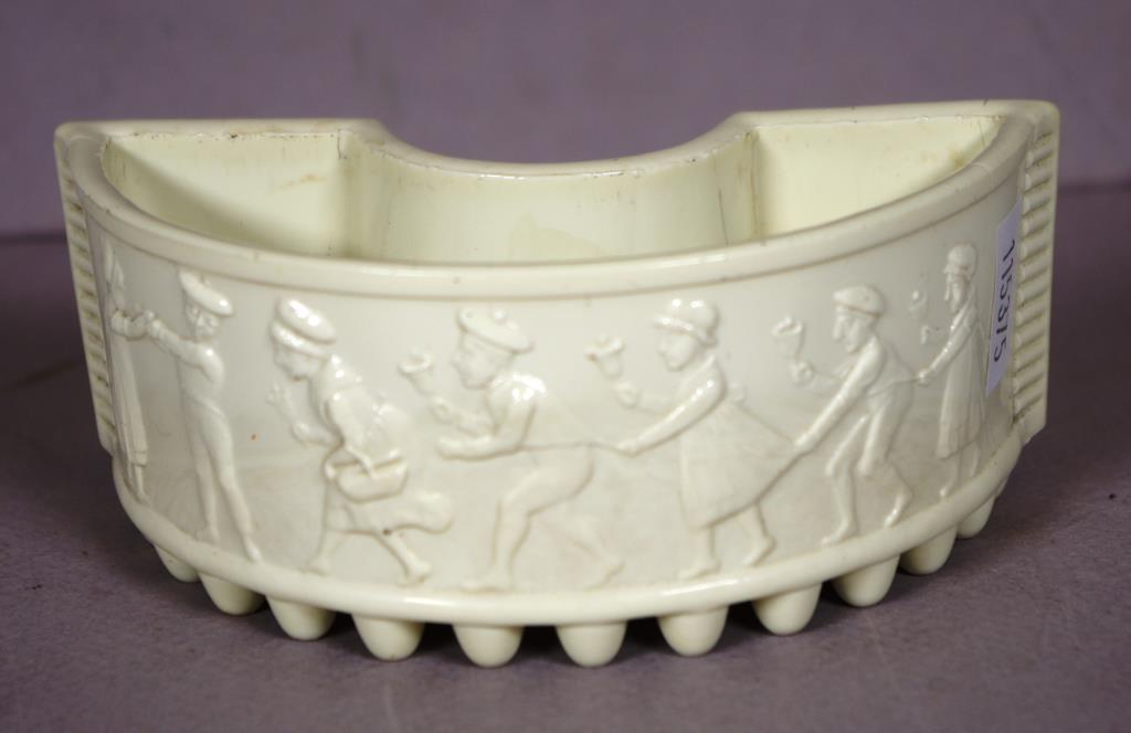 Vintage Sowerby Milk Glass Trough Vase Barsby Auctions Find Lots