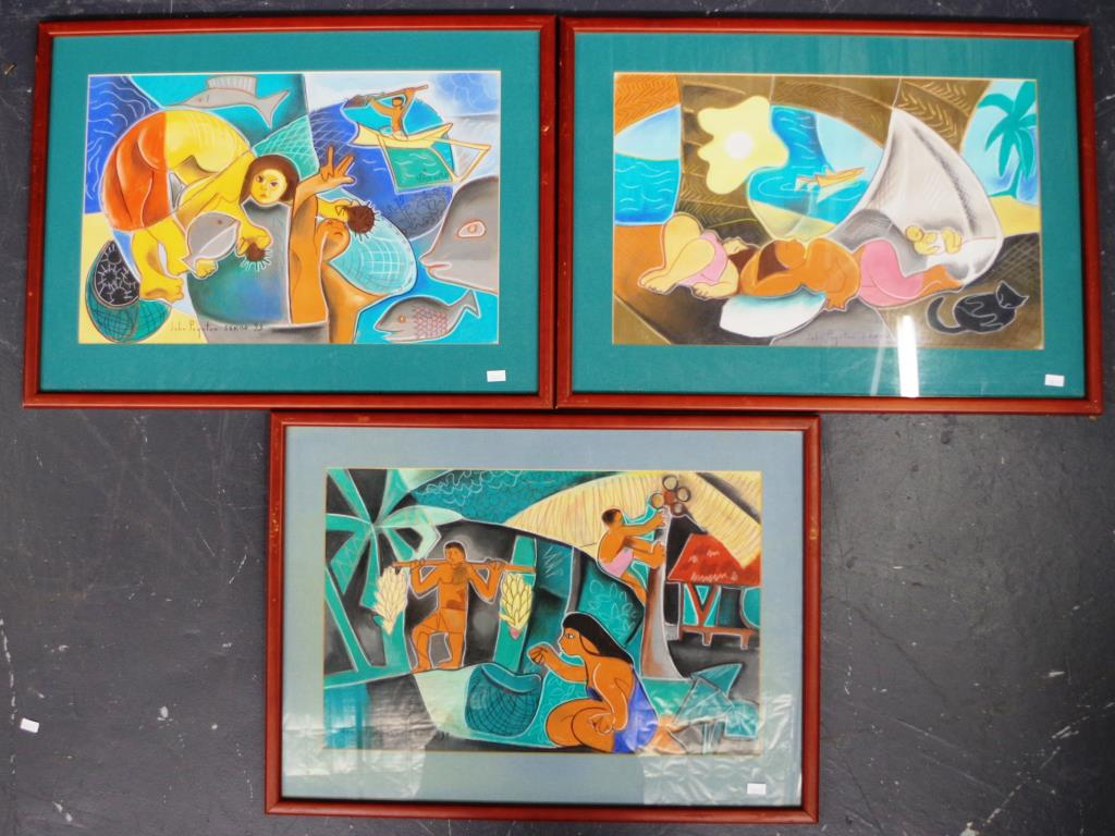 John Poynton Australia Nz Three Framed Pastels Barsby Auctions Find Lots Online