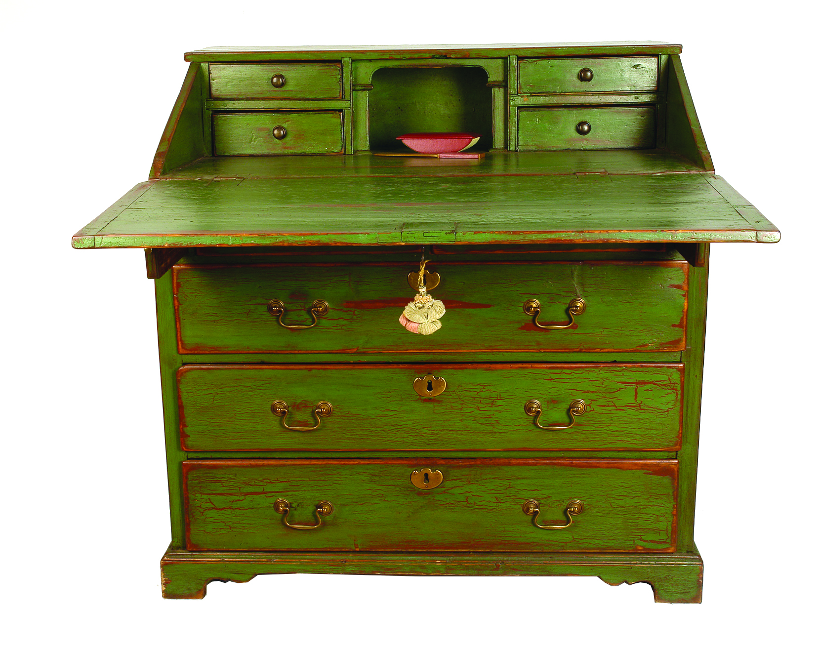 a george iii green painted country pine fall front bureau cordy 39 s find lots online. Black Bedroom Furniture Sets. Home Design Ideas
