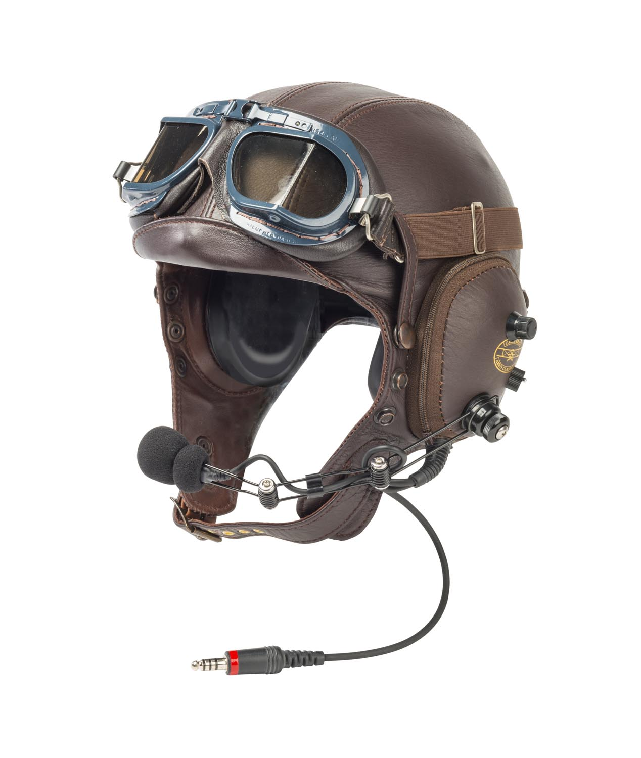 A Campbell Aeroclassic NZ Flying helmet and goggles - Mossgreen | Find Lots  Online