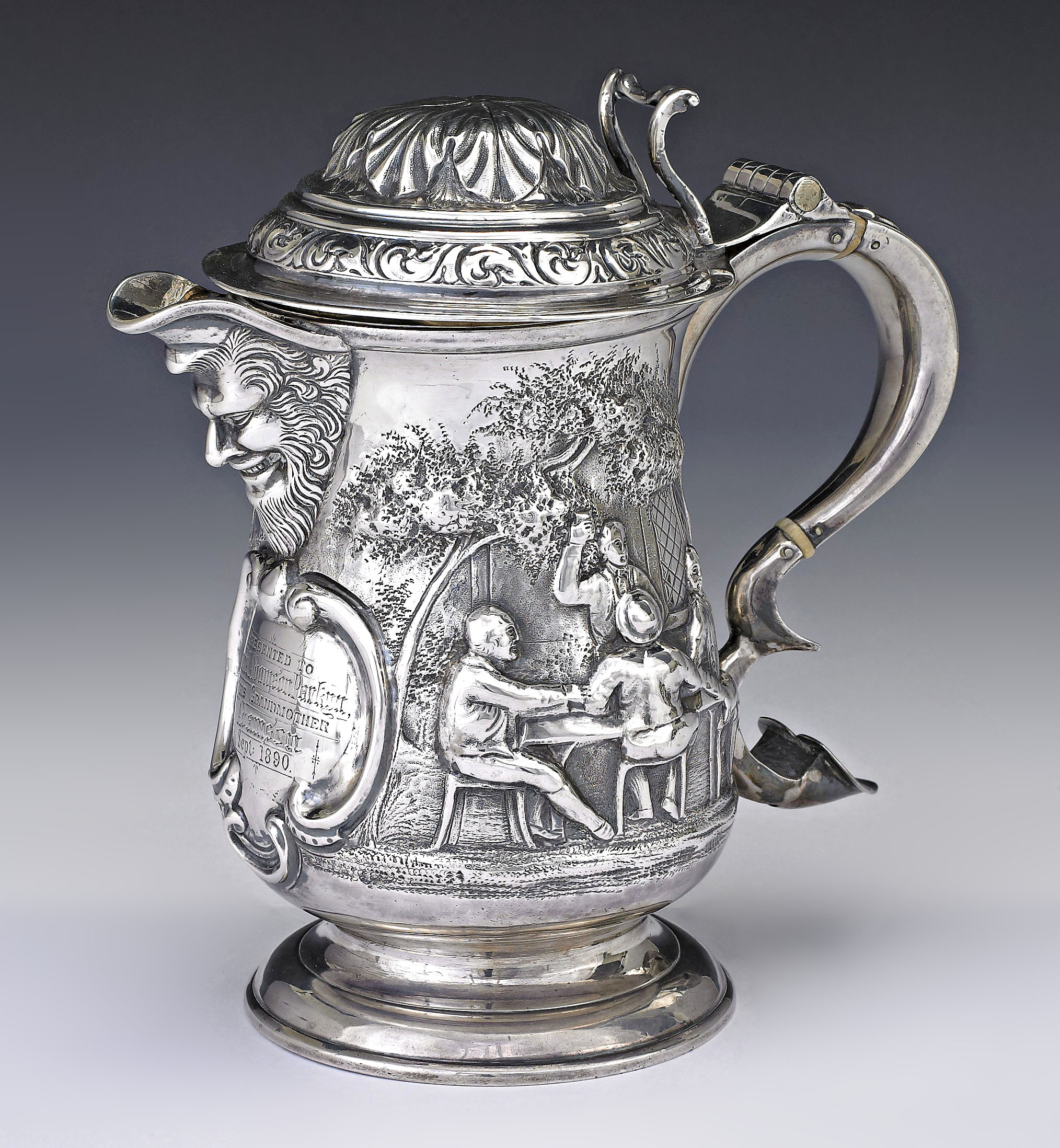 A george ii silver covered jug john langlands i for Chinese furniture newcastle
