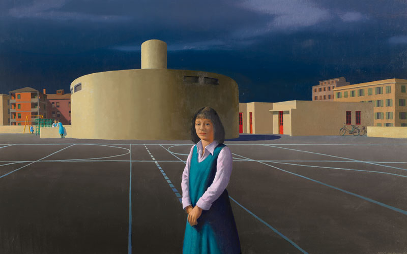 jeffrey smart the new school analysis Jeffrey smart, the gymnasium, 1962, oil on composition board, 63×772 cm image: gift of eva and marc besen 2001, tarrawarra museum of art collection paul cadmus (1904–1999) in his 1952 painting finistère makes these conflicted gazes somewhat more explicit, but not entirely.