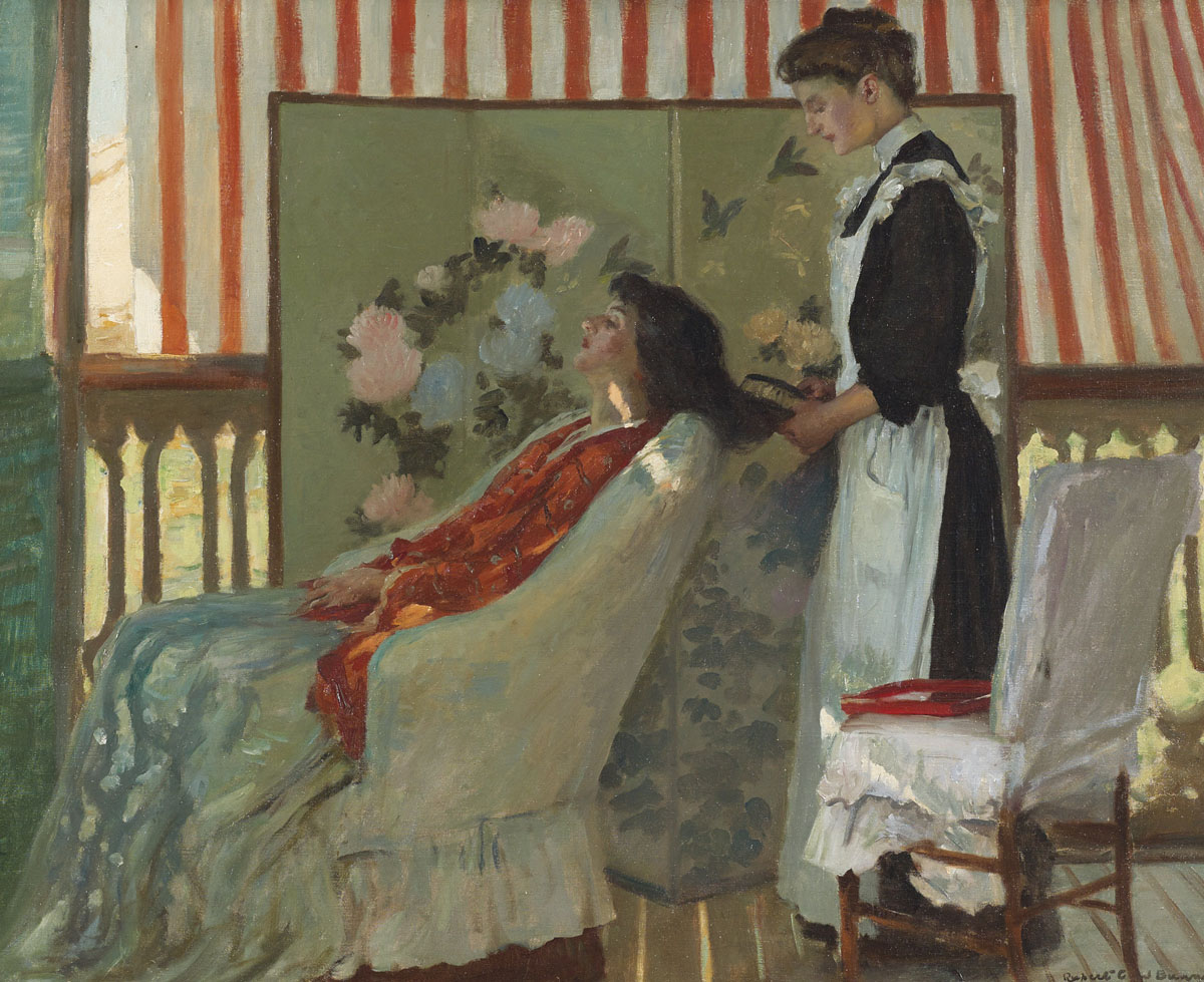 Rupert Bunny Hair Drying Circa 1908 Sotheby S