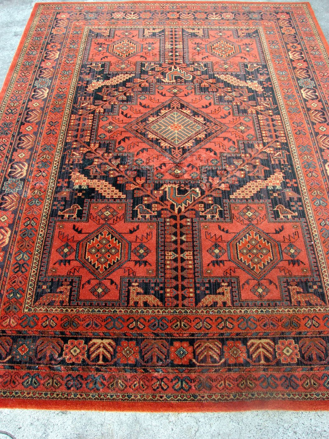 A Large Belgium By Louis De Poortere Mossoul Rug