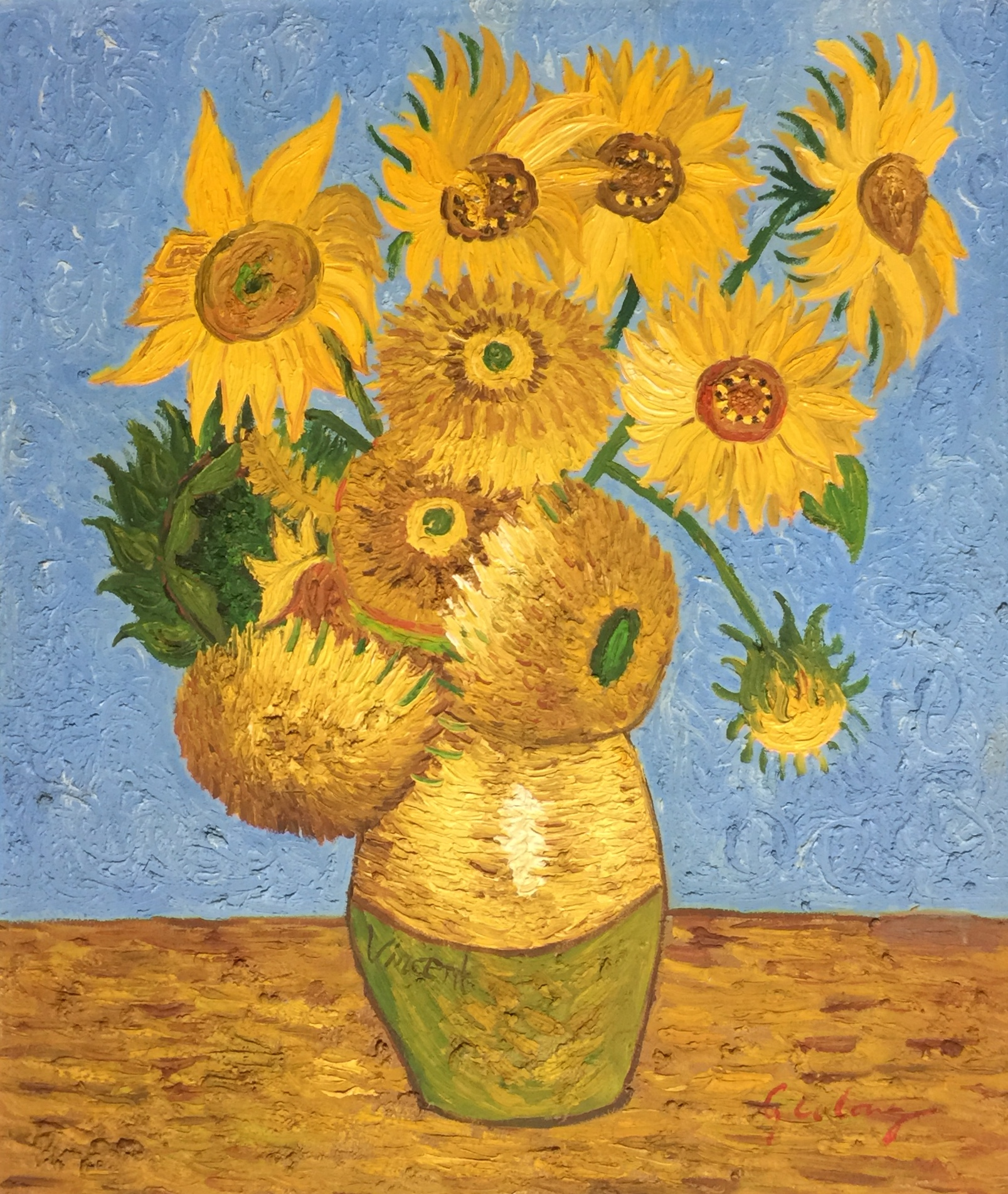 After Vincent Van Gogh - Sunflowers - Theodore Bruce ...