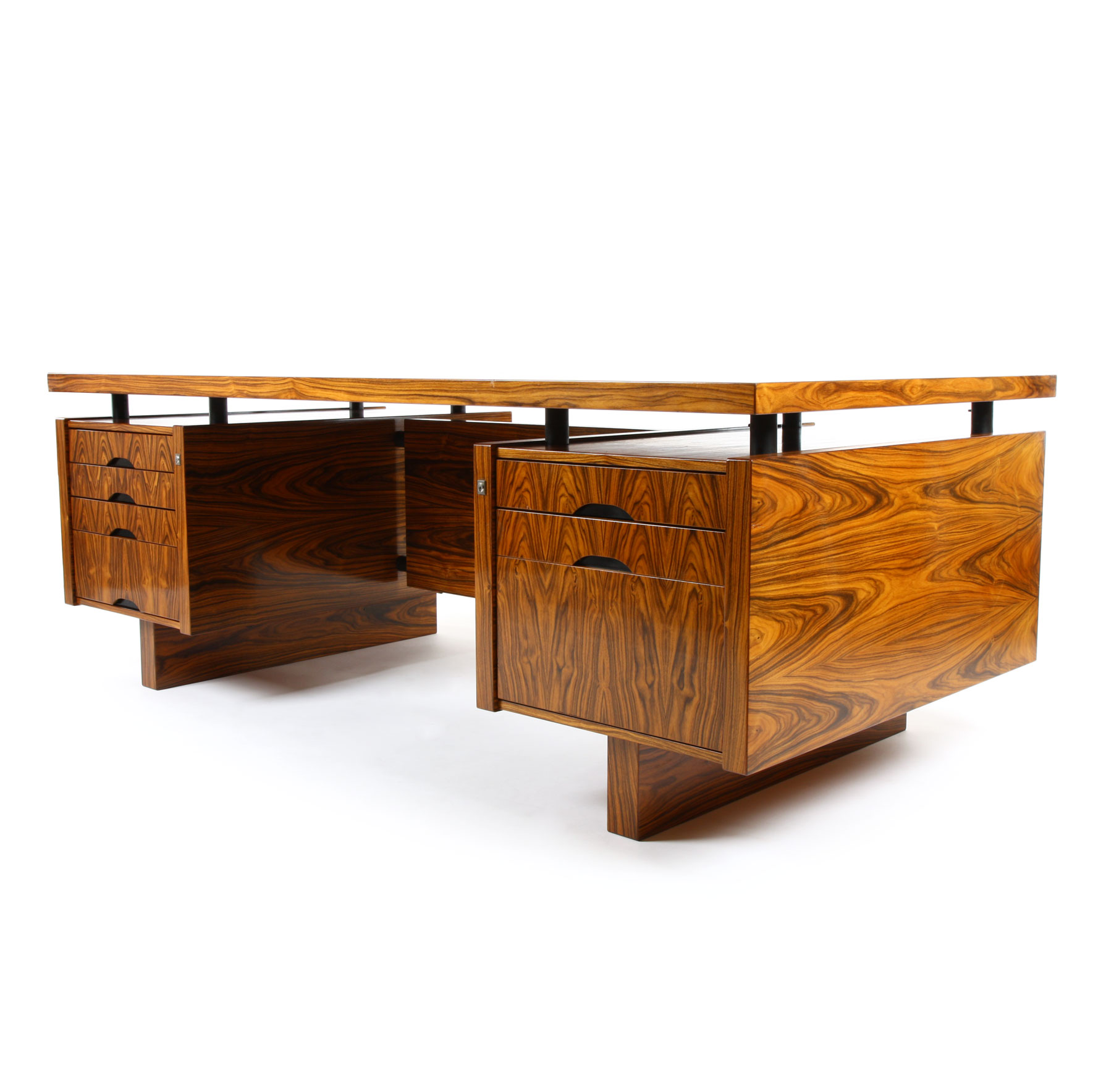 A Danish Rosewood Executive Desk by Lysgaard Mobler - Webb's ...